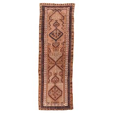 Antique Persian Sarab Long Rug