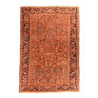 Hand Knotted Persian Heriz Wool Circa 1920, SIZE: 6'0'' x 8'5''