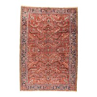 Hand Knotted Persian Heriz Wool Circa 1920, SIZE: 7'5'' x 10'0''