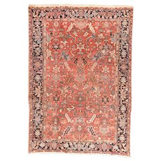 Hand Knotted Persian Heriz Wool Circa 1920, SIZE: 7'8'' x 10'1''