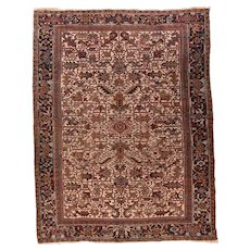 Fine Antique Persian Heriz Wool on Cotton Circa 1910, SIZE: 8'2'' x 10'7''