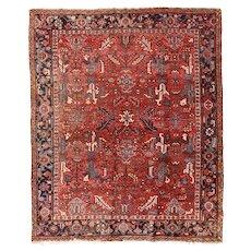 Fine Antique Persian Heriz Circa 1920, SIZE: 8'0'' x 9'7''