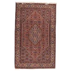 Fine Semi Antique Persian Bijar Circa 1940, SIZE: 3'8'' x 6'2''