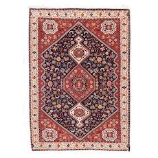 Hand Knotted Persian Kashkoli Wool Circa 1940, SIZE: 5'3'' x 7'2''