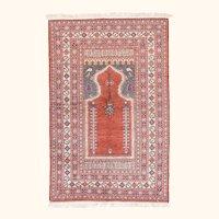 "Fine Semi Antique Turkish Rug, Hand Knotted, Circa 1930, Size 3'10"" x 5'9"""