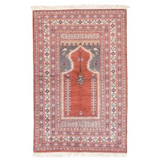 "Fine Semi Antique Turkish Rug, Hand Knotted, Circa 1930, Size 3'10"" x 5'9"""