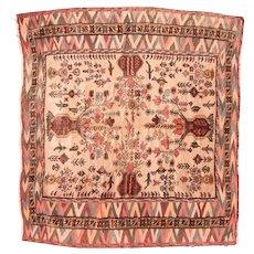 Fine Vintage Persian Tribal Balouch Kilim Circa 1950, SIZE: 4'9'' x 5'2''