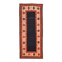 Antique Red Shirvan Talish Russian Area Rug Wool Circa 1900, SIZE:  3'6'' x 8'0''