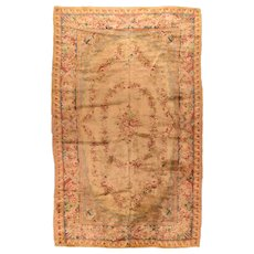 Antique Light Blue French Savonnerie Area Rug Circa 1890, SIZE: 9'9'' x 16'0''