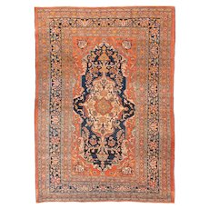 Extremly Fine Antique Persian Tabriz Haji Jalili Hand Knotted Circa 1890