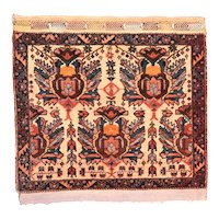 """Extremly Fine Antique Persian Afshar Rug, Hand Knotted, Circa 1890, Size 2'3"""" x 2'2"""""""