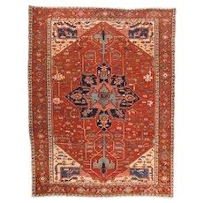 Hand Knotted Persian Serapi Wool Circa 1890, SIZE: 9'9'' x 12'8''