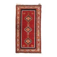Fine Antique Turkish Tribal Rug 100% Wool Circa 1910, SIZE: 3'3'' x 6'3''