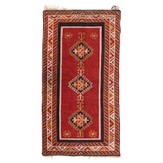 Fine Antique Turkish Tribal Rug 100% Wool Circa 1910, SIZE: 3'3'' x 6'3''
