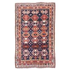Fine Antique Persian Qashqai 100% Wool Circa 1910, SIZE: 5'4'' x 8'3''