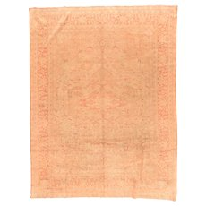 Hand Knotted Indian Amritsar Wool Circa 1890, SIZE: 9'11'' x 8'0''