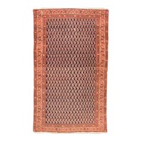 Antique Rust Malayer Persian Area Rug Wool Circa 1890, SIZE: 4'0'' x 6'7''
