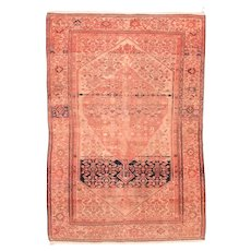 Fine Antique Malayer Persian Rug, Hand Knotted, Circa 1890, Size 4' x 6'1""