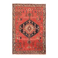 Fine Vintage Persian Tribal Qashqai Circa 1970, SIZE: 4'10'' x 7'5''