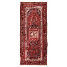 Fine Antique Persian Heriz Long Rug Wool Circa 1920, SIZE: 4'6'' x 10'4''