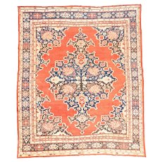Fine antique Persian Sultanabad Wool on Cotton Circa 1890, SIZE: 8' '' x 10'5''