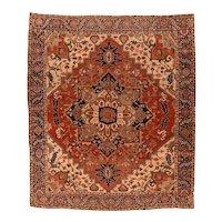 Hand Knotted Persian Serapi Wool Circa 1890, SIZE: 9'8'' x 11'5''