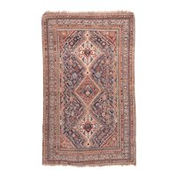 Antique Brown Quashkai / Ghashkai Persian Area Rug Wool Circa 1890, SIZE: 5'0'' x 8'2''