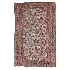 """Fine Antique Afshar Persian Rug, Hand Knotted, Circa 1890, Size 2'6"""" x 3'11"""""""