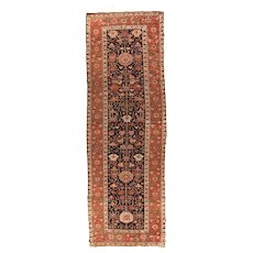 Fine Antique Persian Malayer Circa 1910, SIZE: 3'9'' x 11'5''