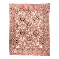 Hand Knotted Persian Bakhtiyari Wool Circa 1890, SIZE: 14'2'' x 16'0''