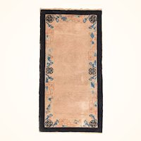 """Fine Antique Peking Chinese Rug, Hand Knotted, Circa 1900, Size 2'6"""" x 4'11"""""""