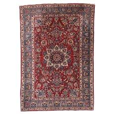 Antique Persian Toudeshk Naeen Area Rug