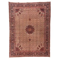 Fine Antique Persian Bidjar Wool on Cotton Circa 1910, SIZE: 10'1'' x 13'6''
