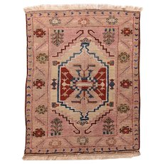 Fine Vintage Turkish Tribal Circa 1950, SIZE: 3'11'' x 4'10''