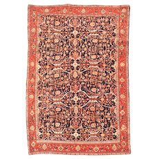 Antique Rug Persian Farahan Sarouk, Circa 1890