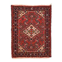 Excellent Dark Brown Fine Persian Hamedan Area Rug Wool Circa 1930, SIZE: 2'2'' x 3'2''