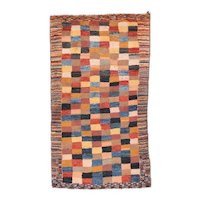 Excellent Beige Persian Gabbeh Area Rug Wool Circa 1970, SIZE: 2'7'' x 5'1''