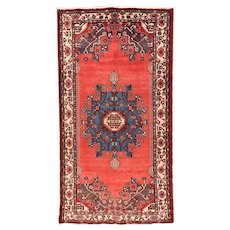 Fine Semi Antique Persian Hamedan Circa 1970, SIZE: 5'4'' x 10'5''