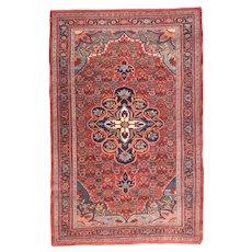 Hand Knotted Persian Bidjar Wool Circa 1910, SIZE: 4'9'' x 7'6''