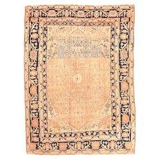 "Fine Antique Persian Tabriz Haji Jalili Hand Knotted Circa 1890, Size 4'8' X 5'11"""