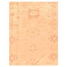 Hand Knotted Turkish Oushak Wool Circa 1890, SIZE: 14'0'' x 21'0''