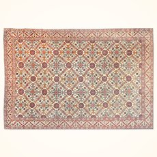 """Extremly Fine Antique Persian Rug Tehran, Hand Knotted, Circa 1920, Size 7''3"""" x 10'"""