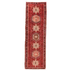 Hand Knotted Persian Karajeh Wool Circa 1900, SIZE: 3'2'' x 10'6''