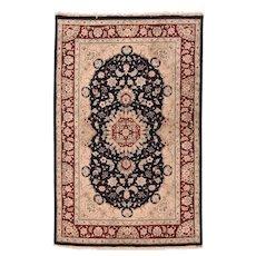 Excellent Beige Tabriz Persian Design Pakistan Area Rug Wool Circa 1970, SIZE: 4'0'' x 6'3''