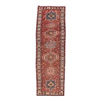 Hand Knotted Persian Karajeh Wool Circa 1920, SIZE: 3'2'' x 10'0''