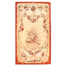 Antique Being Aubusson French Tapestry Area Rug Silk Circa 1900, SIZE: 4'5'' x 8'10''