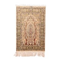 """Extremly Fine Antique Herekeh Turkish Rug, Hand Knotted, Circa 1910, Size 3'4"""" x 5'"""