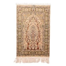 "Extremly Fine Antique Herekeh Turkish Rug, Hand Knotted, Circa 1910, Size 3'4"" x 5'"