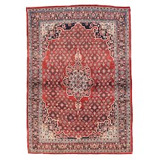 Antique Red Bidjar Persian Area Rug Wool Circa 1920, SIZE: 4'10'' x 6'6''