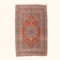 """Fine Antique Tabriz Persian Rug, Hand Knotted, Circa 1910, Size 4'4"""" x 6'9"""""""